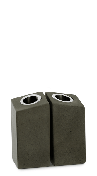 Shabbat Candle Holder Concrete & Metal