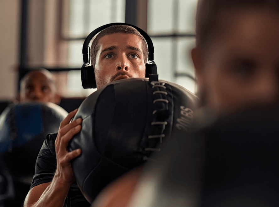 noise cancelling headphones when working out