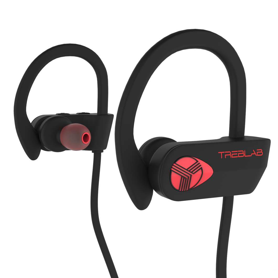 Black/Red trelab xr500 waterproof earbuds