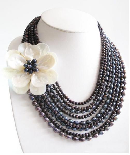 Statement necklaces | Fresh Water Pearls | Pacific Vintage Designs