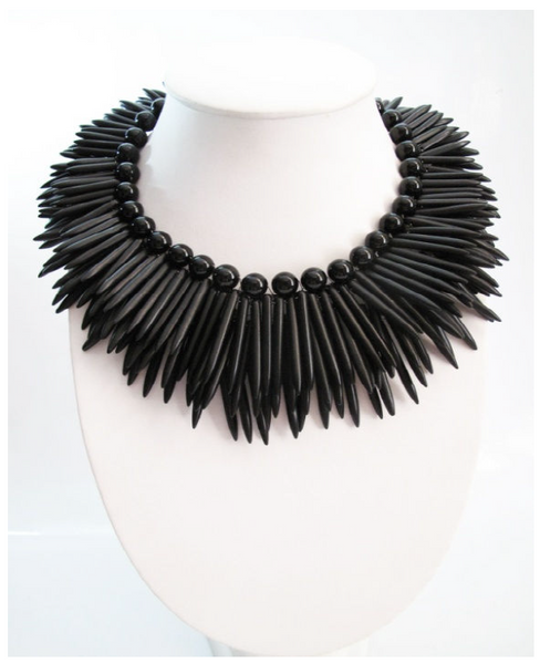 Beautiful Black Howlite Necklace