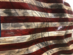 Hand Carved American Flag