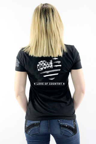 Women's American Love V Neck T-Shirt