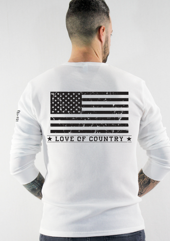American Flag Long Sleeve Thermal