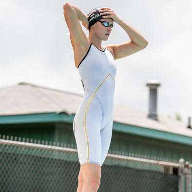 Rival Open Back Kneeskin | Elite Technical Racing Suit (Olivia Smoliga-White)