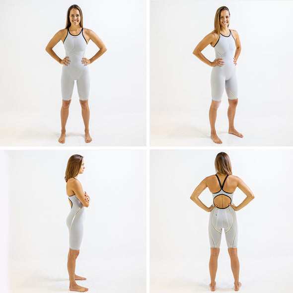 Rival 2.0 Open Back Kneeskin | Elite Technical Racing Suit (Olivia Smoliga-White)