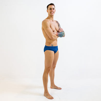 MAZE BLUE BRIEF | DURABLE TRAINING AND COMPETITION SWIMWEAR