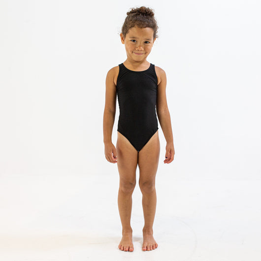 YOUTH BLACK BLADEBACK | DURABLE TRAINING AND COMPETITION SWIMWEAR