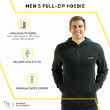 TECH JACKET MENS | FULL-ZIP HOODIE (BLACK)