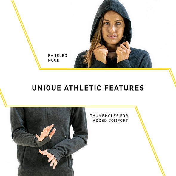 Tech Jacket Womens | Full-Zip Hoodie (Black)
