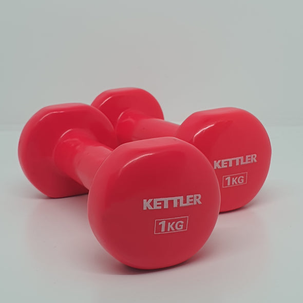 Reduced to Clear! Kettler Vinyl Dumbbells