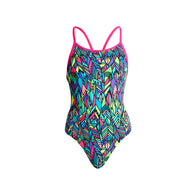 FEATHER FIESTA | GIRLS DIAMOND BACK ONE PIECE