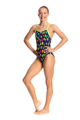 FROSTY FRUITS | GIRLS DIAMOND BACK ONE PIECE