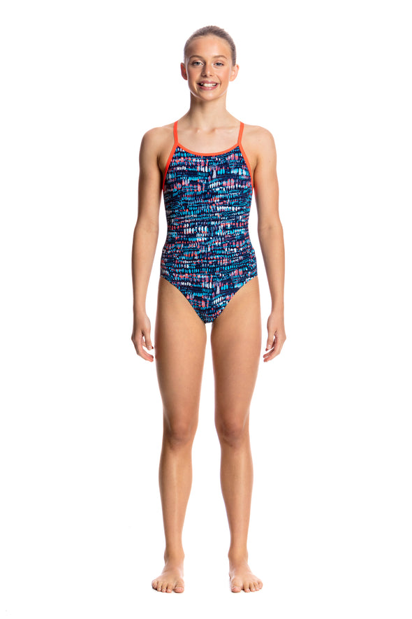 LOTSA DOTS | GIRLS DIAMOND BACK ONE PIECE