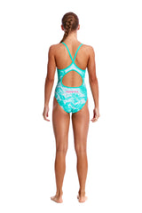 TROPICAL SUNRISE | GIRLS DIAMOND BACK ONE PIECE