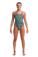 FEATHER FIESTA | LADIES DIAMOND BACK ONE PIECE