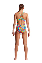 PANEL POP | LADIES DIAMOND BACK ONE PIECE