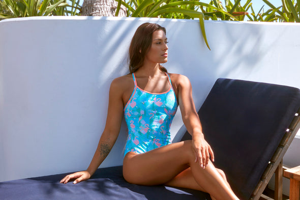 PASTEL PARADISE | LADIES DIAMOND BACK ONE PIECE