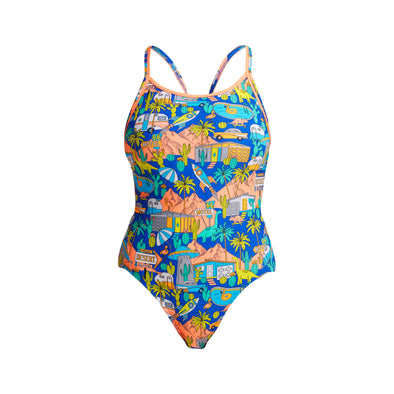 Wacky West | Ladies Eco Diamond Back One Piece