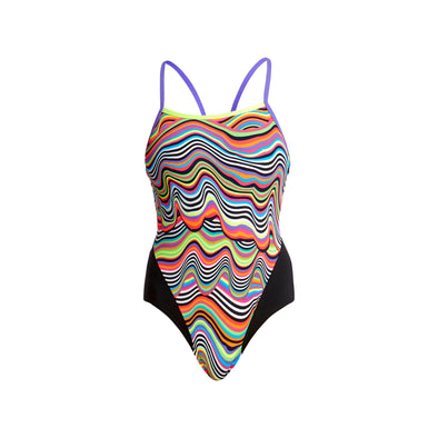 DRIPPING | LADIES SINGLE STRAP ONE PIECE