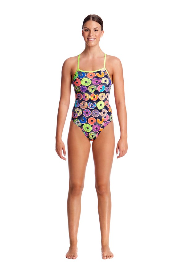 DUNKING DONUTS | LADIES SINGLE STRAP ONE PIECE