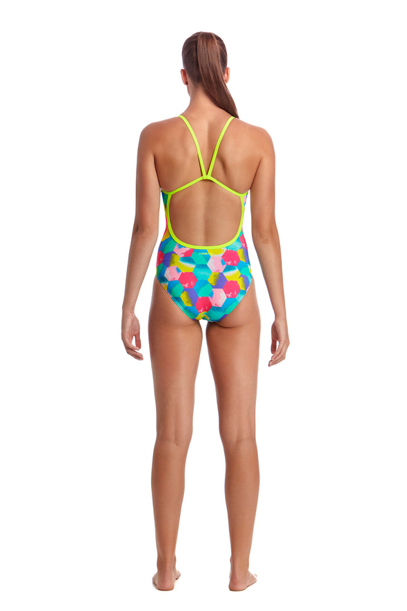 HEXY BACK | LADIES SINGLE STRAP ONE PIECE