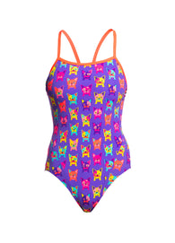 POOCH PARTY | LADIES SINGLE STRAP ONE PIECE