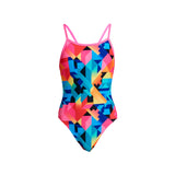 COLOUR BURST | GIRLS SINGLE STRAP ONE PIECE