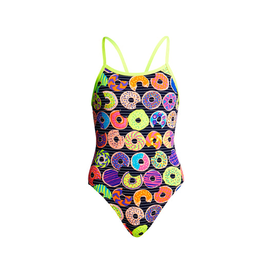 DUNKING DONUTS | GIRLS SINGLE STRAP ONE PIECE