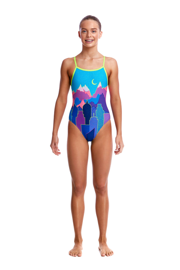 METROPOLIS | GIRLS SINGLE STRAP ONE PIECE