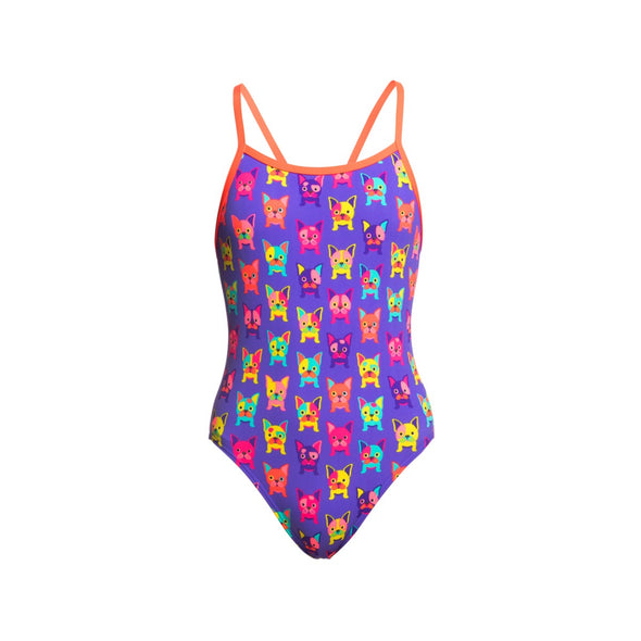 POOCH PARTY | GIRLS SINGLE STRAP ONE PIECE