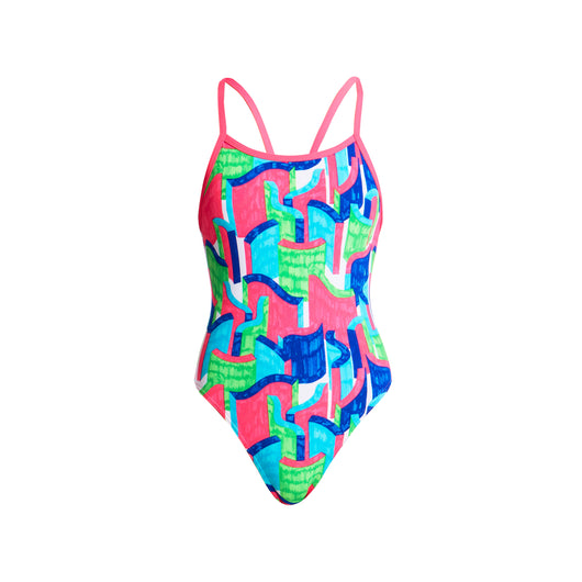 TEXTA TOWERS | GIRLS SINGLE STRAP ONE PIECE