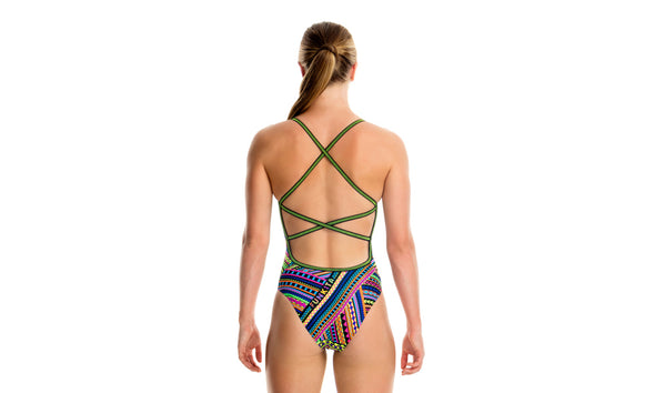 TRIBAL REVIVAL | GIRLS STRAPPED IN ONE PIECE
