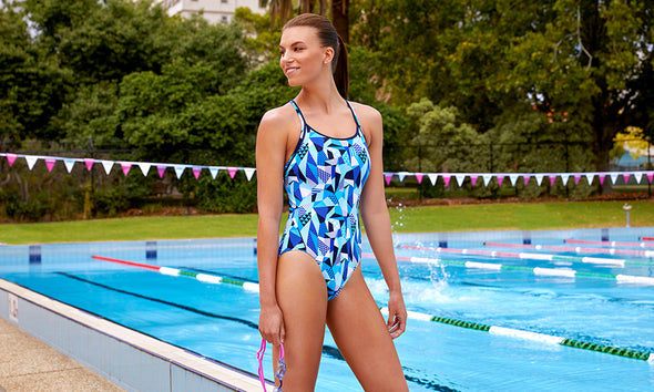 CRACK ATTACK | LADIES DIAMOND BACK ONE PIECE