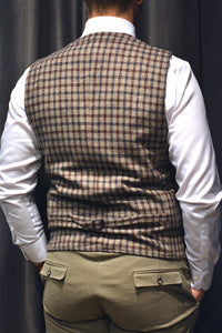 Vest WOLF - Dark Brown/Tern