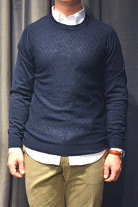 "Strik ""KYSON"" Knit Round Neck - NAVY"