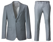 "Indlæs billede til gallerivisning Cavaliere Suit LIGHT GREY ""Paxton/Paul"" - Slim"