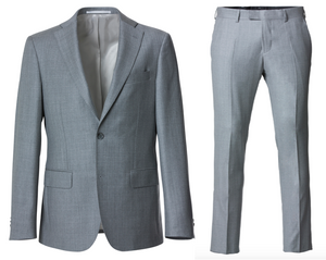 "Cavaliere Suit LIGHT GREY ""Paxton/Paul"" - Slim"