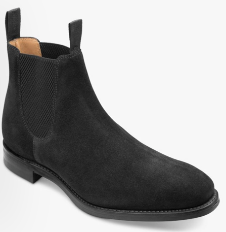 Loake Chelsea Boots Sort Ruskind - CHATSWORTH BSR