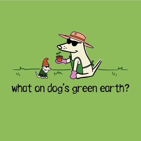 Earth Day Teddy the Dog What On Dog's Green Earth