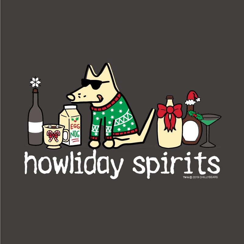 Howliday Spirits - Ladies Curvy V-Neck Tee