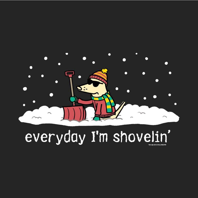 Everyday I'm Shovelin - Ladies T-Shirt V-Neck