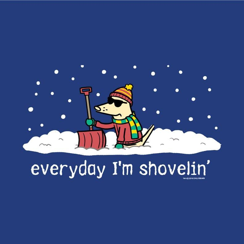 Everyday I'm Shovelin - Ladies Long-Sleeve T-Shirt