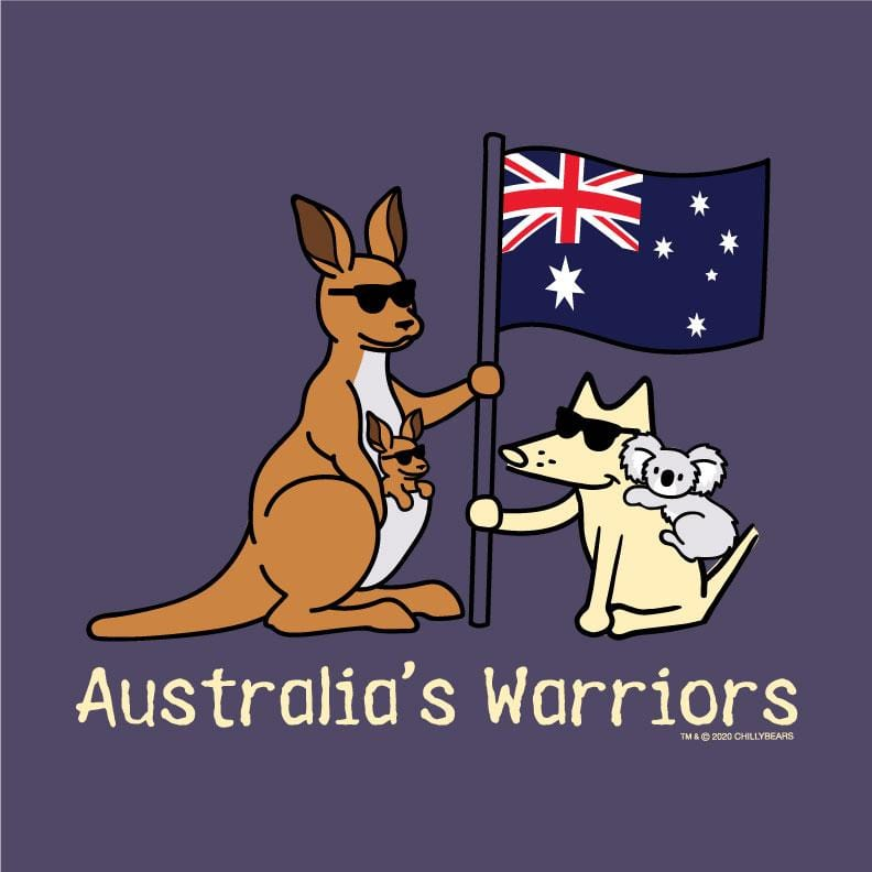 Australia's Warriors - Ladies Curvy V-Neck Tee