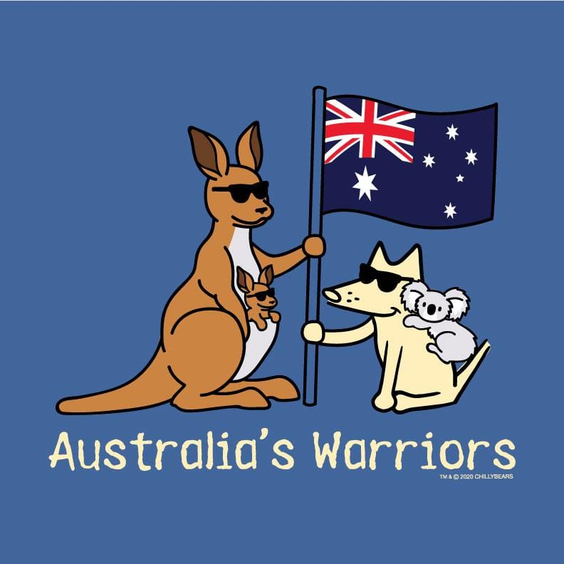 Australia's Warriors - Long-Sleeve Hoodie T-Shirt