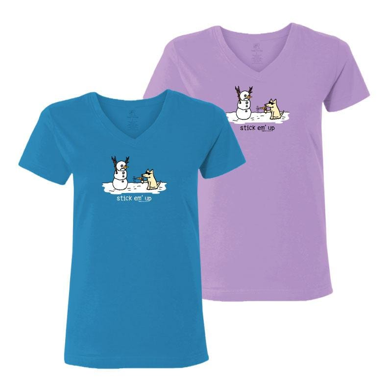 Stick Em' Up - Ladies T-Shirt V-Neck