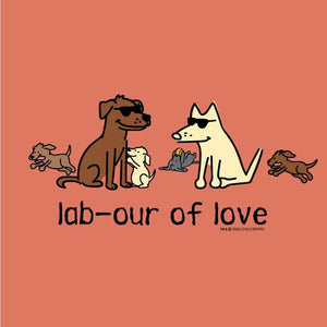Lab-our Of Love  - Ladies Curvy V-Neck Tee
