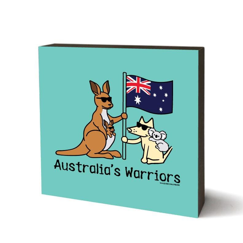 Australia's Warriors - Wooden Table Top Square