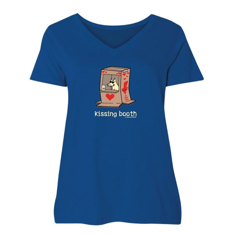 Kissing Booth - Ladies Curvy V-Neck Tee