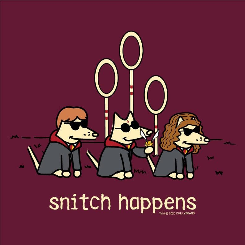 Snitch Happens - Ladies T-Shirt Crew Neck